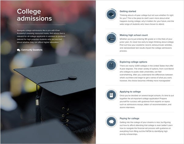 khan academy college resource